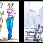 Marker-Illustration, Figürlich