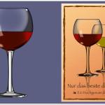 Weinglas-Illustration